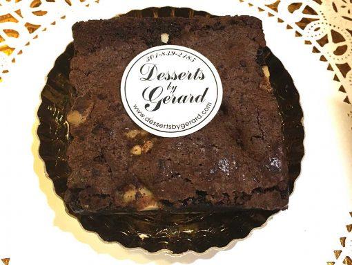 Brownie with Walnuts - dessertsbygerard.com