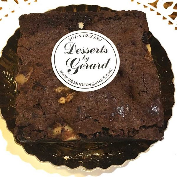 Brownie with Walnuts - dessertsbygerard.com