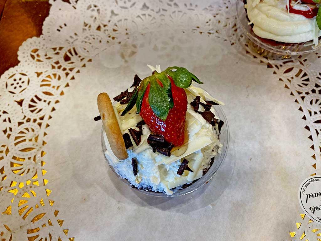 Chocolate Cake with Vanilla Buttercream Cupcake - dessertsbygerard.com