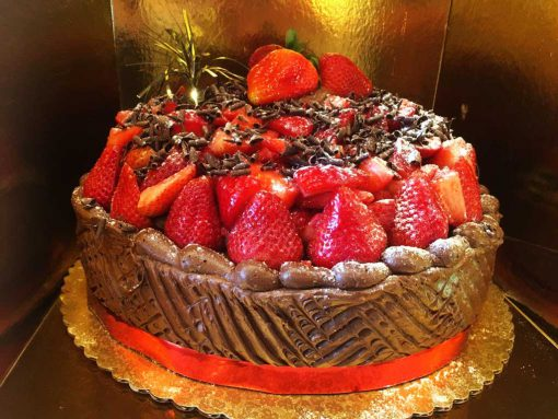 Chocolate Strawberry Shortcake 12inch-onelayer - dessertsbygerard.com