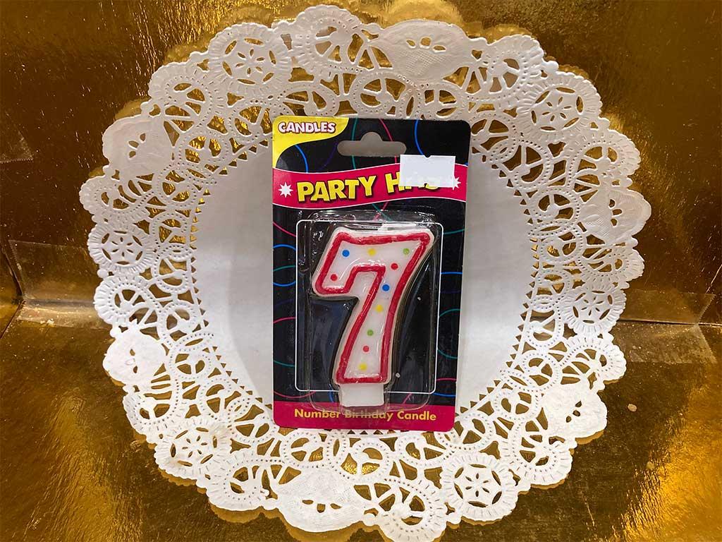 Number Candle - Seven - dessertsbygerard.com