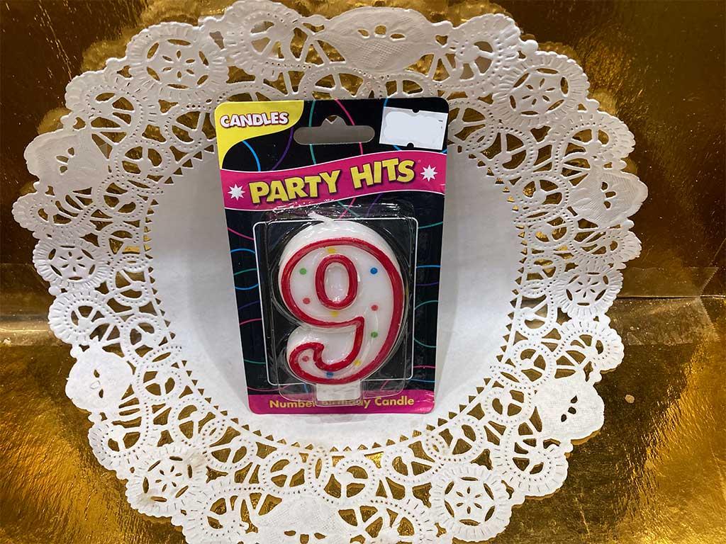 Number Candle - Nine - dessertsbygerard.com