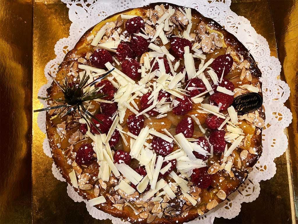 Pear Almond Raspberry Pie - dessertsbygerard.com
