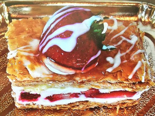 Strawberry Napoleon Slice - dessertsbygerard.com