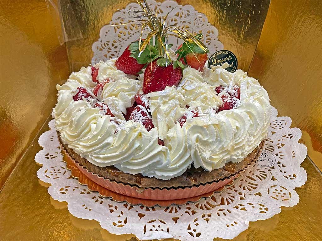 Strawberry Pie with Whipped Cream - dessertsbygerard.com