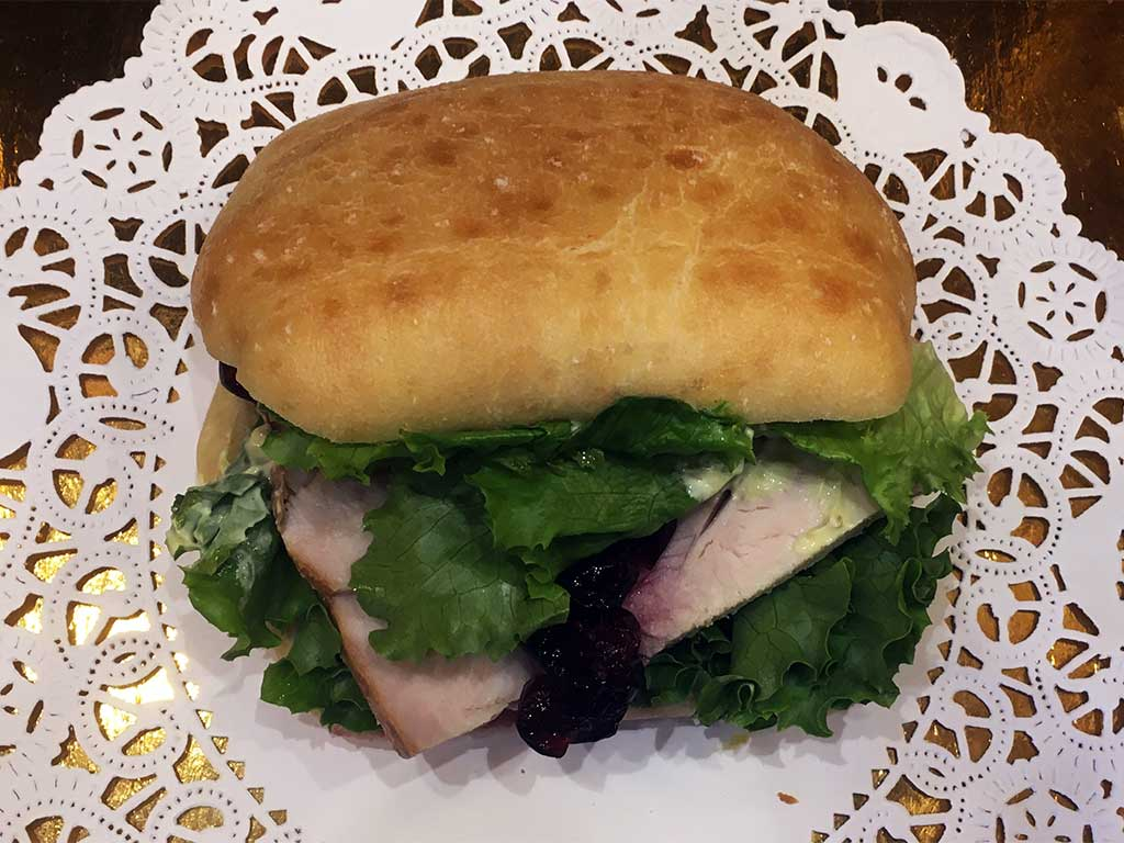 Turkey with Cranberry Sauce Sandwich - dessertsbygerard.com