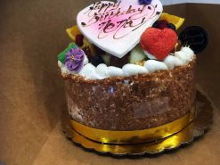 La Ronde des Fruits Two Layer Cake - dessertsbygerard.com