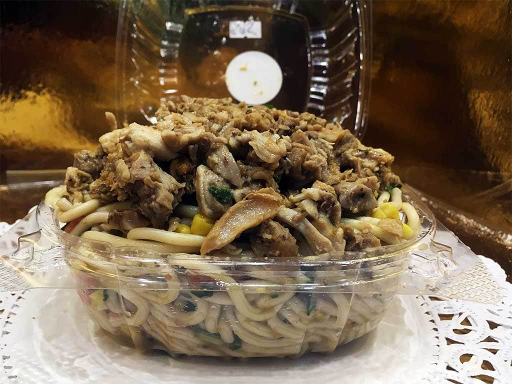 Chicken Spaghetti Salad- dessertsbygerard.com