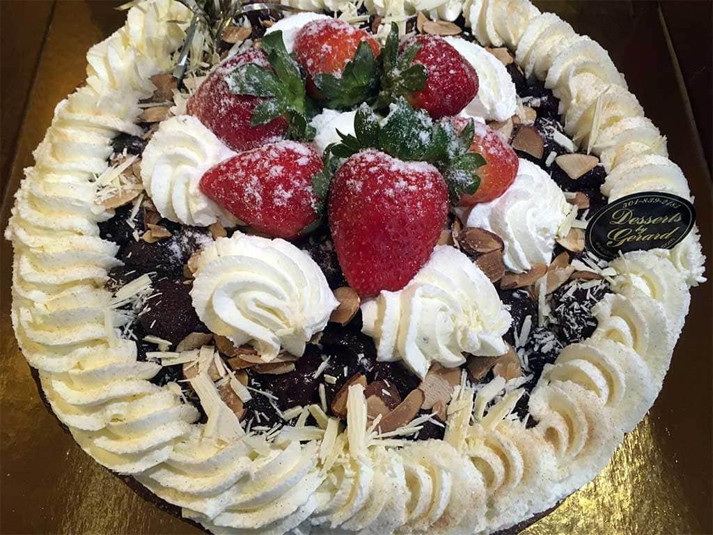 Cherry Almond Cream Whipped Cream Pie - dessertsbygerard.com