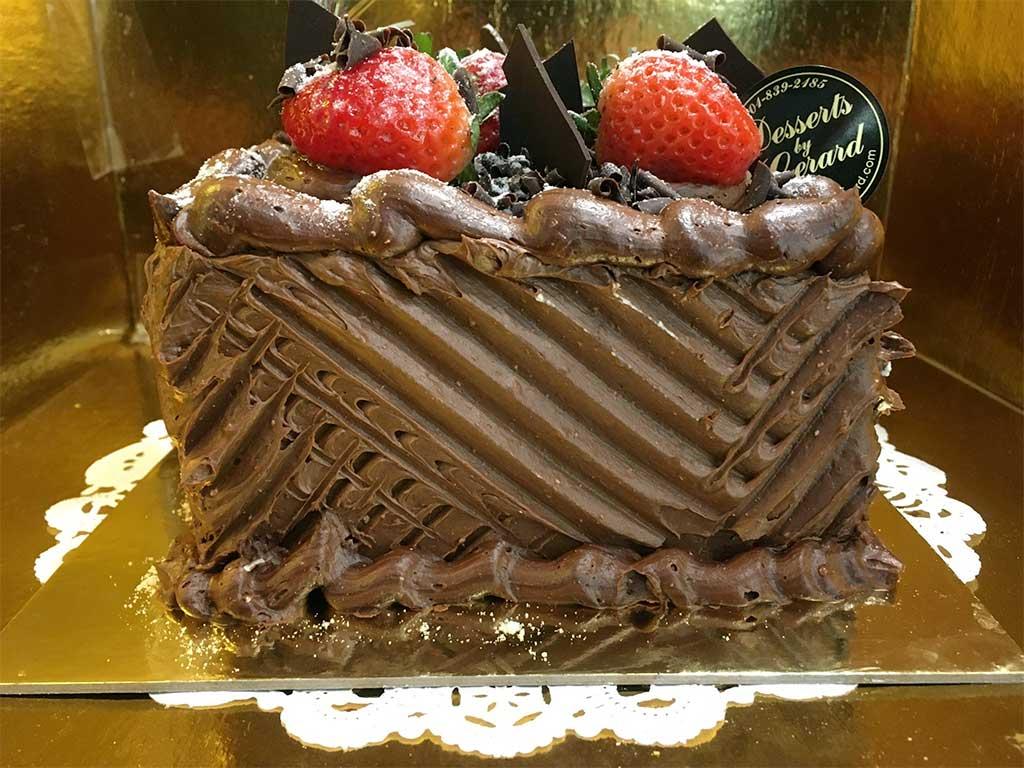 Chocolate Cake Chocolate Buttercream - 6 inch square - dessertsbygerard.com