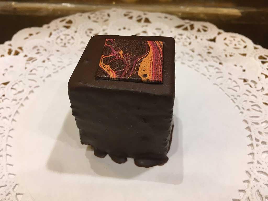 Chocolate Cake Layered with Ganache Mini Pastry - dessertsbygerard.com
