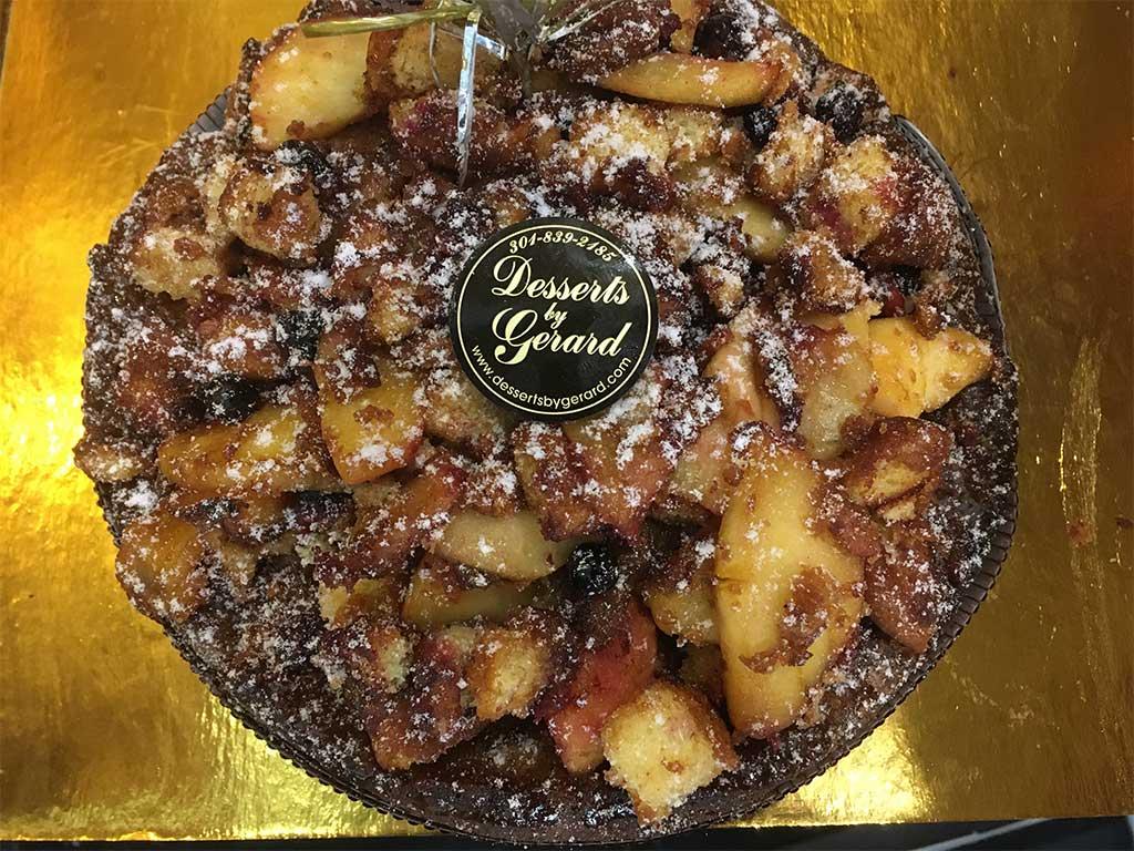 Apple crumb cake large breakfast pastry - dessertsbygerard.com