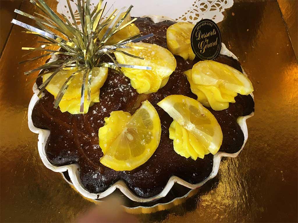 Lemon Pound Cake Large Breakfast Pastry - dessertsbygerard.com